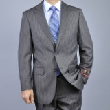 CHARCOAL PINSTRIPE 2-BUTTON SUIT Thumbnail