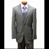 SAND STRIPE FLAT FRONT PANT 2-BUTTON SUIT Thumbnail