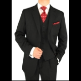 BLACK TONE ON TONE 2-BUTTON SUIT Thumbnail