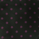 C01. BLACK/PURPLE POLKA DOT TIE & HANKY SET Thumbnail