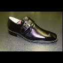 BLACK SLIP ON BUCKLE SHOE Thumbnail