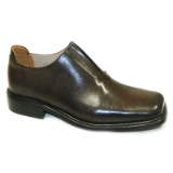 BROWN LEATHER SLIP ON SHOE Thumbnail