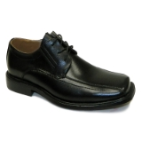 BLACK LEATHER LACE UP SHOE Thumbnail