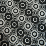 C06. BLACK/WHITE CIRCLE TIE & HANKY SET Thumbnail