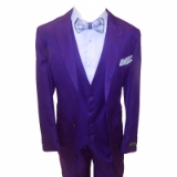 51. FALCONE PURPLE SOLID VESTED SUIT Thumbnail