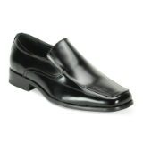 BLACK SQUARE TOE PLAIN SLIPON SHOE Thumbnail