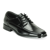 BLACK SQUARE TOE PLAIN LACE UP SHOE Thumbnail