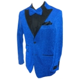 09. ROYAL/BLACK GLITTER SPARKLE SPORTCOAT Thumbnail