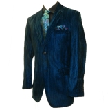 24. BLUE/BLACK VELVET PARTY SPORTCOAT Thumbnail