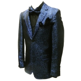 02. ROYAL BLUE/BLACK LEOPARD PARTY SPORTCOAT Thumbnail