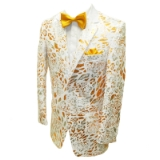 08. GOLD/WHITE FLORAL SEQUIN SPORTCOAT Thumbnail