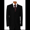 BLACK TONE ON TONE STRIPE SUIT Thumbnail