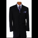 NAVY TONE ON TONE STRIPE SUIT Thumbnail