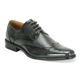 40. GREY LEATHER LACE UP SHOE (6280) Thumbnail