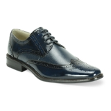 41. NAVY LEATHER LACE UP SHOE (6280) Thumbnail
