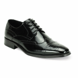 35. BLACK LEATHER LACE UP SHOE (6502) Thumbnail