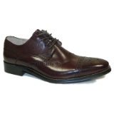 38. BURGUNDY LEATHER LACE UP SHOE (6502) Thumbnail