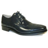 36. NAVY LEATHER LACE UP SHOE (6502) Thumbnail