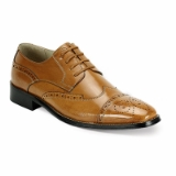 37. TAN LEATHER LACE UP SHOE (6502) Thumbnail