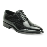 30. BLACK LEATHER LACE UP SHOE (6503) Thumbnail