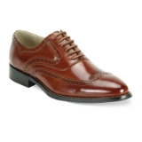 31. COGNAC LEATHER LACE UP SHOE (6503) Thumbnail