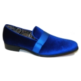 20. ROYAL BLUE VELVET SHOE WITH SATIN RIBBON Thumbnail