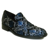 28. BLUE/SILVER SPARKLY PAISLEY PARTY SHOE Thumbnail