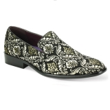30. GOLD/SILVER SPARKLY PAISLEY PARTY SHOE Thumbnail