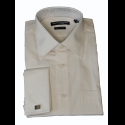 IVORY FRENCH CUFF 100% COTTON DRESS SHIRT Thumbnail