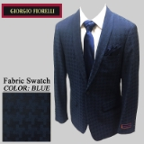 01. BLUE JACQUARD CHECK MATCHING SHAWL LAPELS Thumbnail