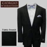 25.GIORGIO BLACK SOLID CASHMERE/WOOL MODERN Thumbnail
