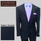 26.GIORGIO NAVY SOLID CASHMERE/WOOL MODERN Thumbnail