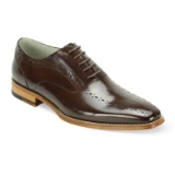 12. ALFO CHOCOLATE BROWN LEATHER LACE UP SHOE Thumbnail