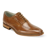 14. ALFO TAN LEATHER LACE UP SHOE Thumbnail