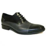 ALTON BKACK/GREY LACE UP SHOE Thumbnail