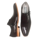 21. AMATO CHOC. BROWN LEATHER SLIP ON SHOE Thumbnail