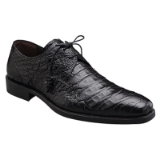 ANDERSON BLACK GENUINE CROCODILE MEZLAN SHOE Thumbnail
