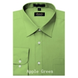 APPLE GREEN WRINKLE FREE MENS DRESS SHIRT Thumbnail
