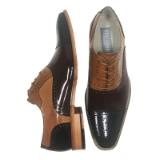 23. BAILEY BLACK/BROWN/TAN LEATHER SHOE Thumbnail