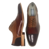 24. BAILEY BROWN/TAN/COGNAC LEATHER SHOE Thumbnail