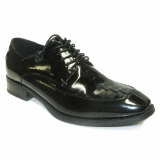 25. BENSON BLACK LEATHER LACE UP SHOE Thumbnail
