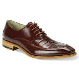 26. BENSON COGNAC LEATHER LACE UP SHOE Thumbnail