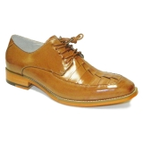27. BENSON TAN LEATHER LACE UP SHOE Thumbnail