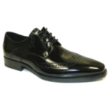 28. BENTLEY BLACK LEATHER LACE UP SHOE Thumbnail