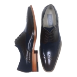 29. BENTLEY BROWN/NAVY LEATHER LACE UP SHOE Thumbnail