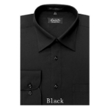 A14.BLACK WRINKLE FREE MENS DRESS SHIRT Thumbnail