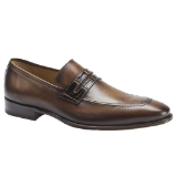 BORJA COGNAC/BROWN LEATHER MEZLAN SHOE Thumbnail