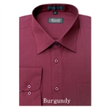 A30.BURGUNDY WRINKLE FREE MENS DRESS SHIRT Thumbnail