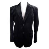 01. ADOLFO BLACK VELVET 2-BUTTON SPORTCOAT Thumbnail