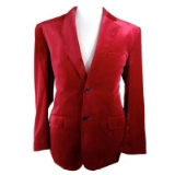08. ADOLFO RED VELVET 2-BUTTON SPORTCOAT Thumbnail